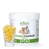 Nahrungsergänzung AniForte Omega 3- Lachsöl Kapseln