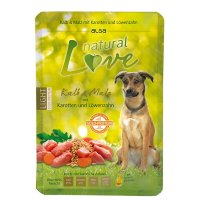 Nassfutter alsa natural Love Kalb mit Malz, Karotten und Löwenzahn