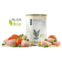 Nassfutter alsa nature BIO Hühnchen mit Reis und jungem Gemüse