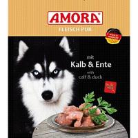 Nassfutter Amora Fleisch pur Kalb und Ente