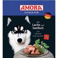 Nassfutter Amora Fleisch Pur mit Lachs & Seefisch
