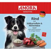 Nassfutter Amora Sensitive Rind mit Süßkartoffel & Hüttenkäse