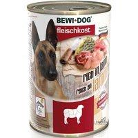 Nassfutter BEWI DOG Fleischkost reich an Lamm