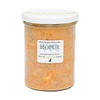 Nassfutter BIOPUR Adult Rind, Nudeln Karotten im Glas