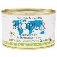 Nassfutter BIOPUR Adult Rind, Reis & Karotten
