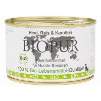Nassfutter BIOPUR Senior Rind, Reis, Karotten