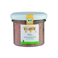 Nassfutter BIOPUR Welpen Geflügel, Reis, Karotten im Glas