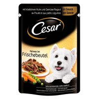 Nassfutter Cesar Feines mit Huhn & Gemüse in Sauce