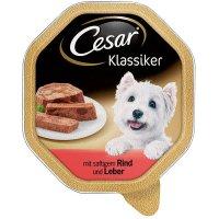 Nassfutter Cesar Klassiker mit saftigem Rind & Leber