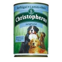 Nassfutter Christopherus Junghund Geflügel, Lamm & Reis