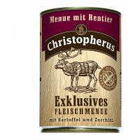 Nassfutter Christopherus Menue mit Rentier mit Kartoffel & Zucchini