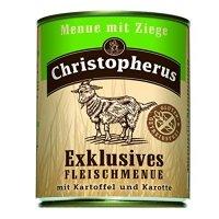 Nassfutter Christopherus Menue mit Ziege mit Kartoffeln & Karotte