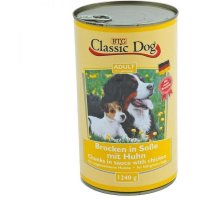 Nassfutter Classic Dog Adult Brocken in Soße mit Huhn