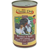 Nassfutter Classic Dog Adult Brocken in Soße mit Lamm