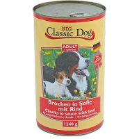 Nassfutter Classic Dog Adult Brocken in Soße mit Rind