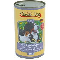 Nassfutter Classic Dog Adult Brocken in Soße mit Truthahn