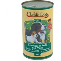Nassfutter Classic Dog Adult Brocken in Soße mit Wild