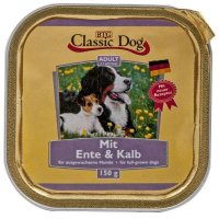 Nassfutter Classic Dog Adult Ente & Kalb