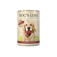 Nassfutter Dogs Love BIO Gemüse Hundefutter Reds Vegan mit Gemüse & Obst
