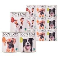 Nassfutter Dogs Love Hunde-Nassfutter Bio Mixpaket Rind, Huhn, Pute