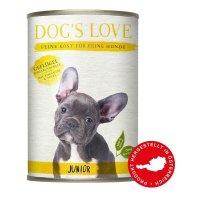 Nassfutter Dogs Love Junior Geflügel mit Zucchini & Apfel