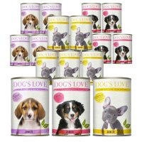 Nassfutter Dogs Love Junior Mixpaket