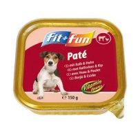 Nassfutter fit+fun Paté Adult Kalb & Huhn
