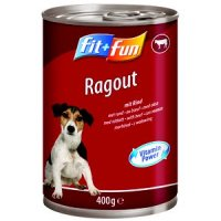 Nassfutter fit+fun Ragout Adult Rind