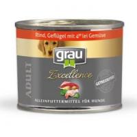Nassfutter Grau Excellence ADULT Rind, Geflügel mit 4er-lei Gemüse