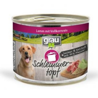 Nassfutter Grau Schlemmer-Topf - Lamm mit Vollkornreis
