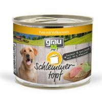Nassfutter Grau Schlemmer-Topf - Pute mit Vollkornreis