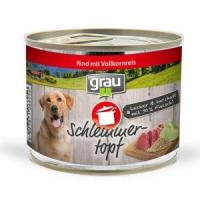 Nassfutter Grau Schlemmer-Topf - Rind mit Vollkornreis