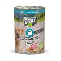 Nassfutter Grau Schlemmertopf - Kalb, Huhn & Vollkornreis