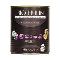 Nassfutter Herrmanns Bio-Huhn mit Hirse