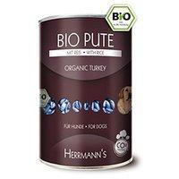 Nassfutter Herrmanns Bio-Pute mit Reis