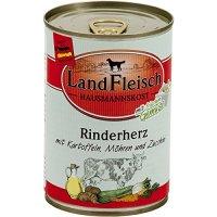 Nassfutter LandFleisch Hausmannskost Rinderherz mit Kartoffeln, Möhren und Zucchini