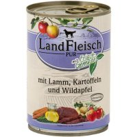 Nassfutter LandFleisch Pur Lamm, Kartoffeln & Wildapfel