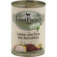 Nassfutter LandFleisch Pur mit Ente & Reis mit Biogemüse
