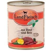 Nassfutter LandFleisch Pur Rind & Reis mit Biogemüse