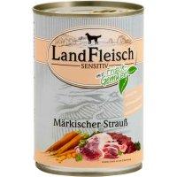 Nassfutter LandFleisch Sensitiv Märkischer Strauß