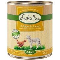 Nassfutter Lukullus Geflügel & Lamm mit Kartoffeln, Löwenzahn und Leinöl