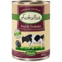 Nassfutter Lukullus Rind & Truthahn mit Kartoffeln, Petersilie und Sonnenblumenöl