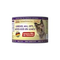 Nassfutter MACs Feinschmecker Kaninchen, Wild, Ente, Haferflocken und Gemüse