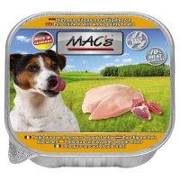 Nassfutter MACs Huhn pur mit Geflügelherzen