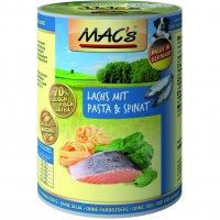 Nassfutter MACs Lachs mit Pasta & Spinat