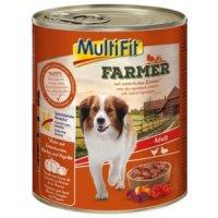 Nassfutter MultiFit Farmer Adult Huhn mit Entenherzen
