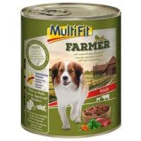 Nassfutter MultiFit Farmer Adult Rind mit Kalbsherzen