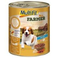 Nassfutter MultiFit Farmer Junior Huhn mit Pute, Pastinake & Karotte