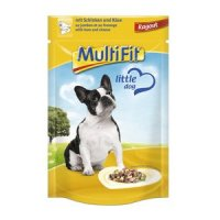 Nassfutter MultiFit Pouch Ragout Schinken & Käse