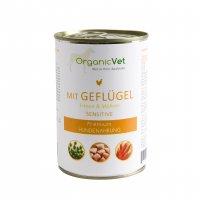 Nassfutter OrganicVet sensitive Geflügel mit Erbsen & Möhren